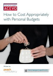 How to Cost Appropriately with Personal Budgets - Acevo