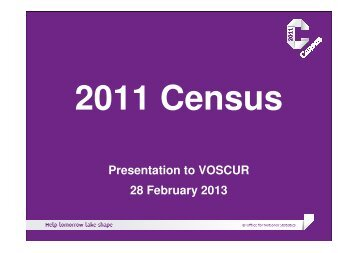 Powerpoint 2011 Census presentation - Voice & Influence