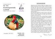 Ausgabe 3-2012-September-November - St. Viti Kirchengemeinde ...
