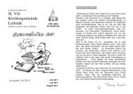 Ausgabe 2-2011-Juni-August - St. Viti Kirchengemeinde Leiferde