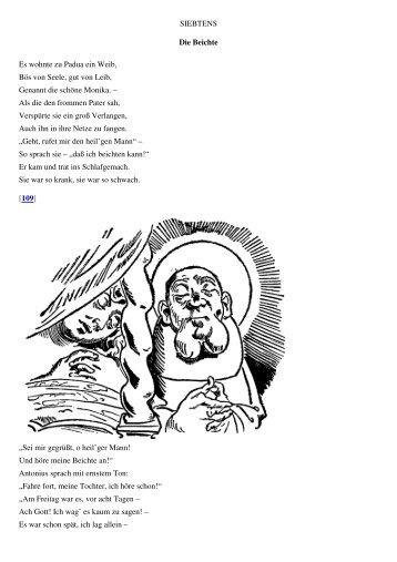 Wilhelm Busch-Der heilige Antonius von Padua-Die Beichte