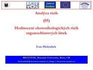 Analýza rizik - Centrum pro výzkum toxických látek v prostředí