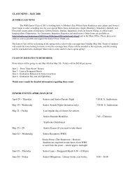CLASS NEWS – MAY 2010 SENIOR EVENTS APRIL ... - Whspfa.org