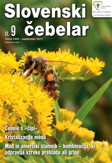 Slovenski cebelar 9-2011.pdf - Čebelarska zveza Slovenije