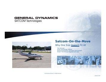Satcom-On-the-Move - General Dynamics SATCOM Technologies
