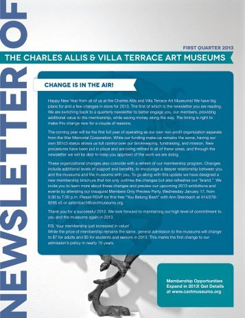 change is in the air! - Charles Allis Art Museum