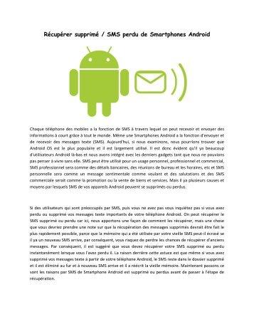 Récupérer supprimé / SMS perdu de Smartphones Android