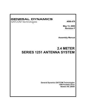 4096-476 - General Dynamics SATCOM Technologies