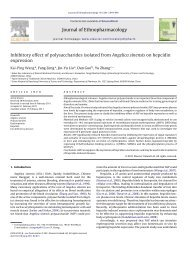 Inhibitory effect of polysaccharides isolated from Angelica sinensis ...