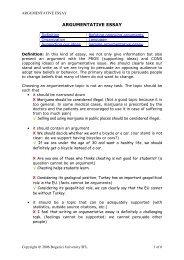 ARGUMENTATIVE ESSAY - bogazici university online writing lab