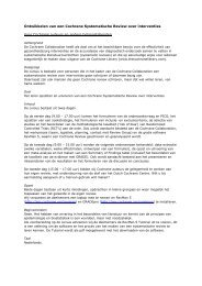 Tekst website SR cursussen - Dutch Cochrane Centre