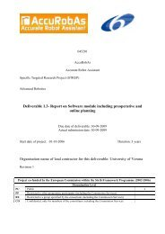 Deliverable 1.3- Report on Software module including preoperative ...