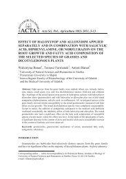 Wpływ haloksyfopu i aloksydymu na wzrost i skład kwasów ...