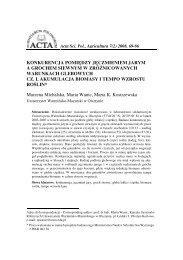 Full text - Acta Scientiarum Polonorum seria Agricultura