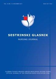 novi SG 2011.pdf - Hrvatska udruga medicinskih sestara
