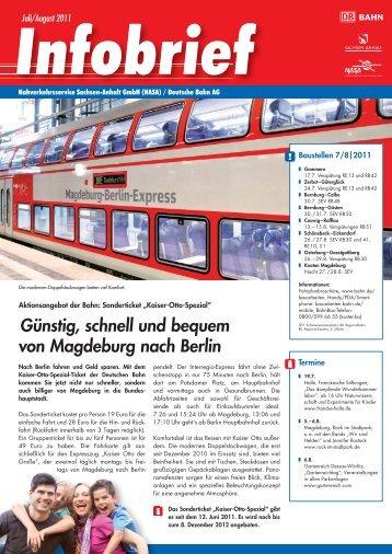 Günstig, schnell und bequem von Magdeburg nach Berlin - Nasa