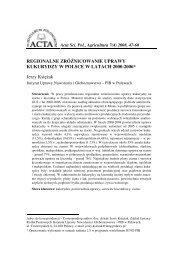 Pełny tekst - Acta Scientiarum Polonorum seria Agricultura