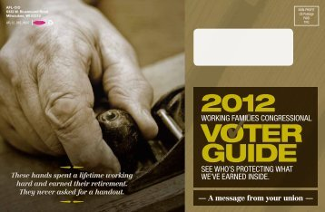 Working Families Voter Guide - Wisconsin State AFL-CIO Blog