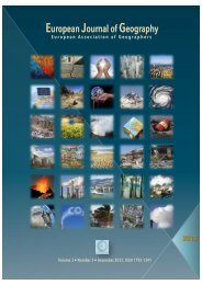 European Journal of Geography