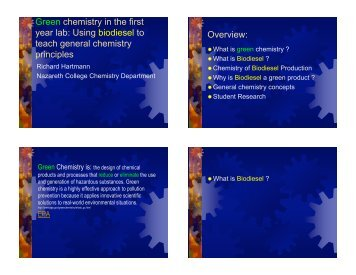 Power Point Presentation (PDF) - Green Chemistry Center