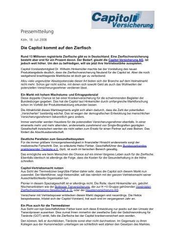 Pressemitteilung - Capitol Versicherung