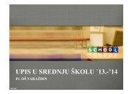 upis u srednju školu 2013.-2014. (pdf) - IV. osnovna škola Varaždin