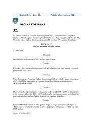 Proračun za 2005. godinu - Općina Kostrena