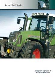 Prospekt Ciągnik rolniczy FENDT - seria 700 - Maszyny rolnicze