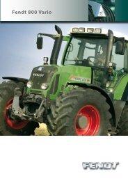 Prospekt Ciągnik rolniczy FENDT - seria 800 - Maszyny rolnicze