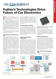 Fujitsu's Technologies Drive Future of Car Electronics Special Report