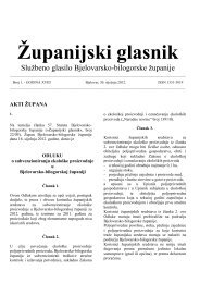Županijski glasnik br 1 2012. - Bjelovarsko-bilogorska županija