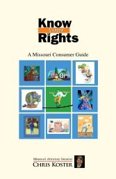Know Your Rights - Missouri Attorney General