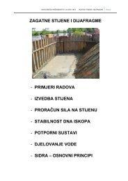 ZAGATNE STIJENE I DIJAFRAGME - PRIMJERI RADOVA ...