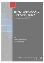 ZBIRKA ZADATAKA IZ HIDROMEHANIKE - Sveučilište Josipa Jurja ...