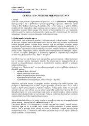 E. Lehotkai - Ocjena i unapređenje mjernih sustava