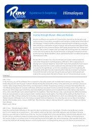 Journey through Bhutan - Bikes and festivals - RAW Travel