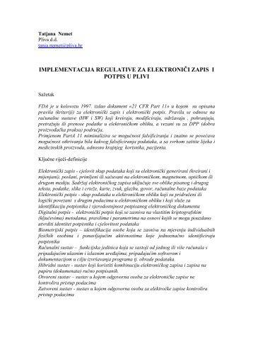 T. Nemet - Implementacija regulative za elektronički zapis