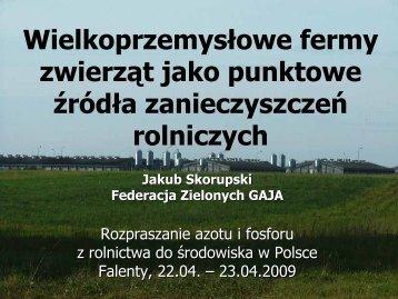 Wielkoprzemysłowe fermy zwierząt jako punktowe ... - baltic green belt