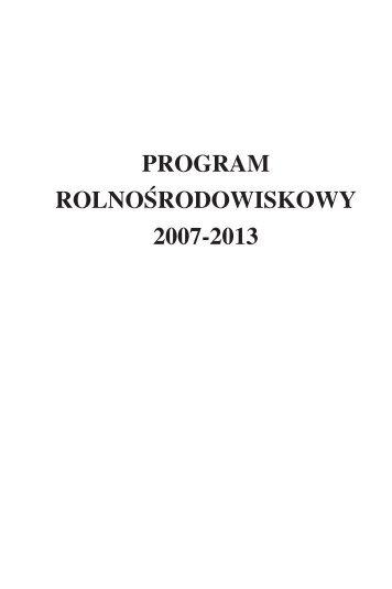 program rolnośrodowiskowy 2007−2013 - Baltic Green Belt