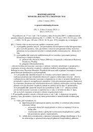 Rozporządzenie w sprawie minimalnych norm - Baltic Green Belt