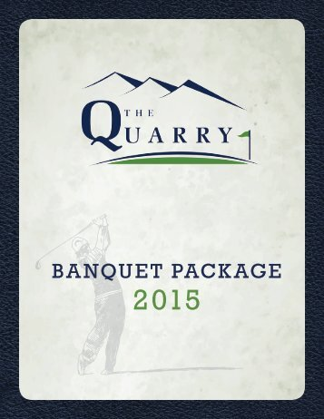 2015 Banquet Package
