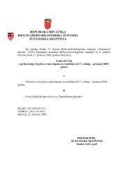 Zaključak izvješća o radu Župana - Bjelovarsko-bilogorska županija