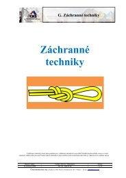 Záchranné techniky - Český horolezecký svaz