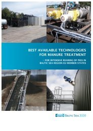 best available technologies for manure treatment - Baltic Green Belt