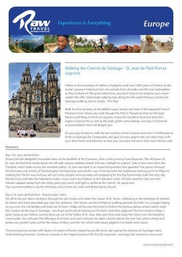 Walking the Camino de Santiago - St. Jean de Pied ... - Raw Travel