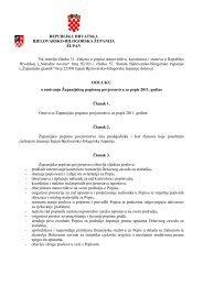 Odluka o popisu stanovništva - Bjelovarsko-bilogorska županija