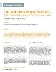 Food Safety Modernization Act Info Session - Oregon Small