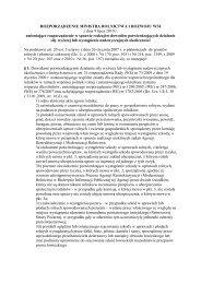 ROZPORZĄDZENIE MINISTRA ROLNICTWA I ... - Baltic Green Belt