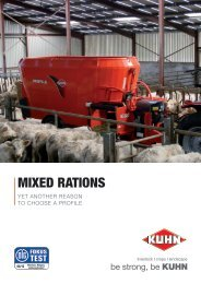 Profile 80 Series: results of DLG test in - Kuhn