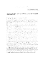 © Managementul Cercetarii UBB Generat la 16/4/2009, 12:39 pm ...